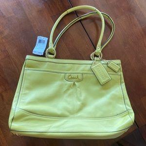 Coach Purse - lemon-lime colour